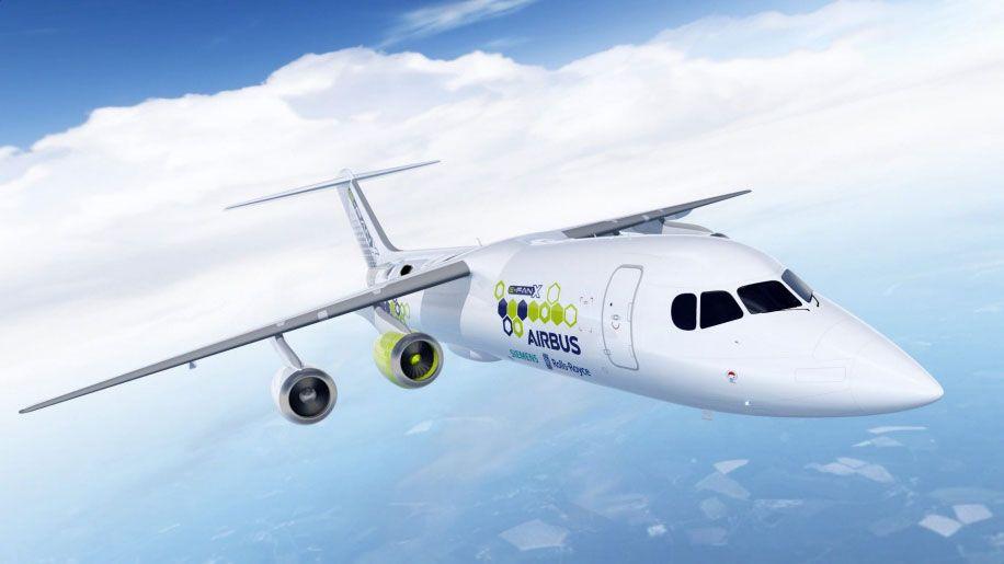 E-Fan X el primer avión de Airbus con motores híbridos (eléctricos y de combustión)