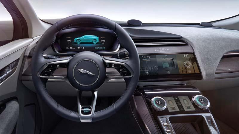 Interior del Jaguar i-Pace