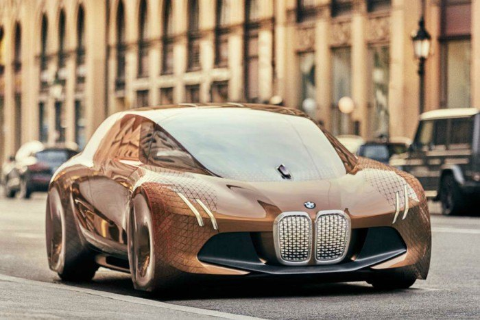 Imagen renderizada de un prototipo del BMW iNEXT
