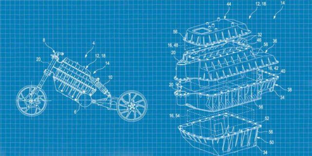 Patente de la nueva moto eléctrica de BMW