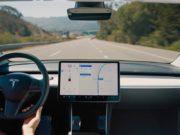 Foto del Autopilot activo en un Tesla