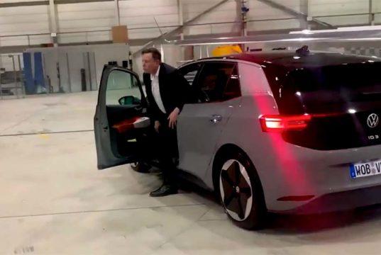 Elon Musk prueba el Volkswagen ID.3 y aquí está el vídeo que lo demuestra