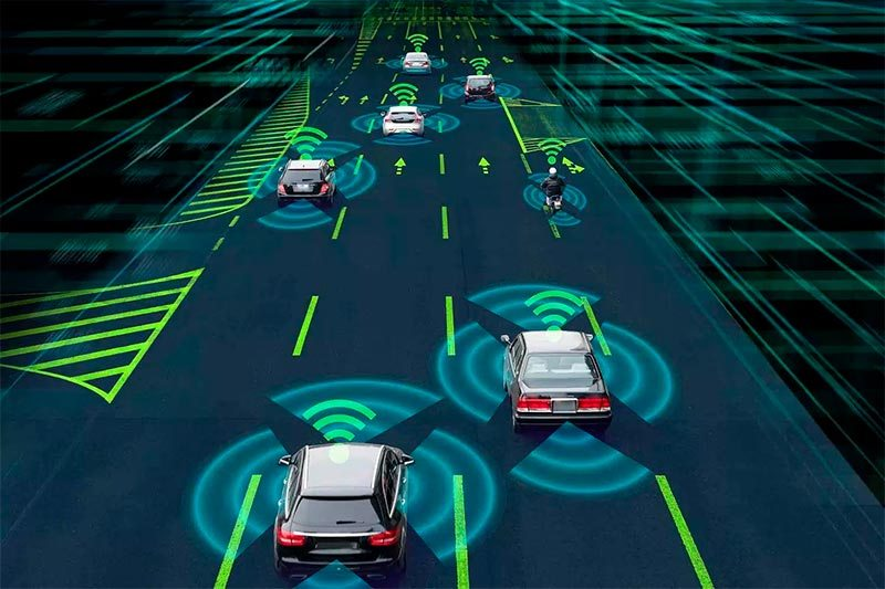 Ejemplo de coches conectados gracias al 5G