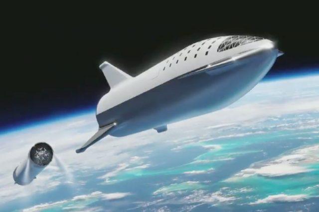 Imagen conceptual del Big Falcon Rocket