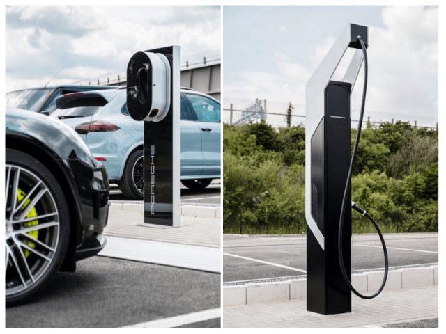Cargador de Porsche para coche eléctrico