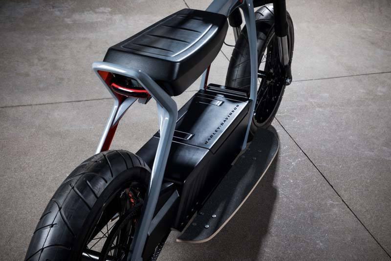 Harley Davidson Concept Eléctrico HD 2 - Ciclomotor eléctrico - Trasera