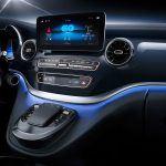 Mercedes-Benz EQV detalle interior de la pantalla