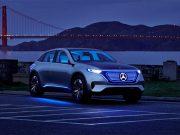 Imagen conceptual del Mercedes Benz EQ, el vehículo eléctrico de Mercedes