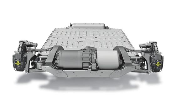 Imagen del motor eléctrico de un Tesla Model S y Tesla Model X