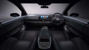 Detalle del interior del Nissan ARIYA