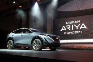 Foto de la presentación del Nissan ARIYA