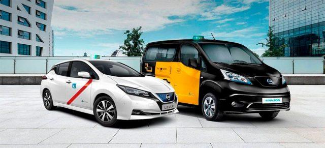 Imagen del Nissan Leaf como taxi