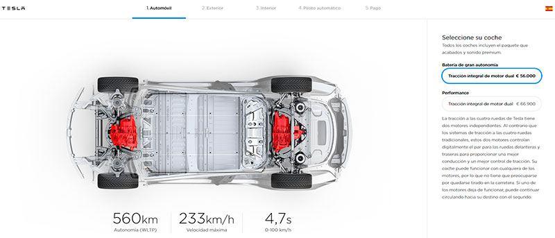 Nuevos precios de partida del Tesla Model 3 en España y Europa