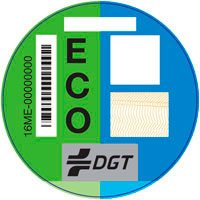 Imagen de la pegatina ECO de la DGT