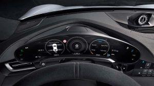 Foto del cuadro de mando del Porsche Taycan