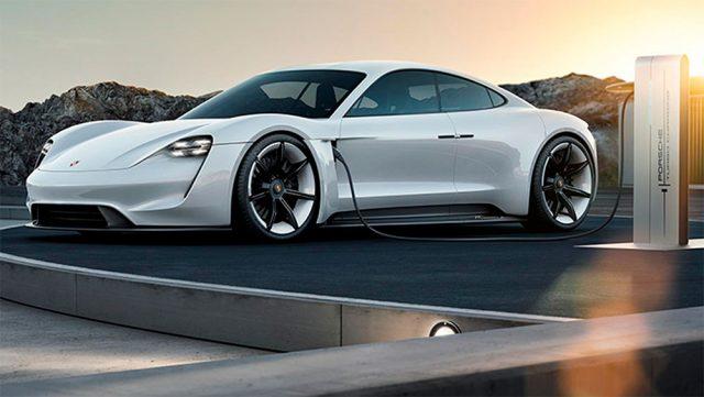 Imagen del Porsche Mission E, deportivo 100% eléctrico