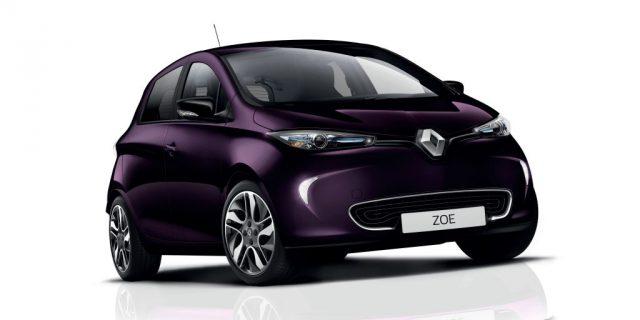 Imagen del nuevo Renault Zoe de 2018 en color Bluberry Purple