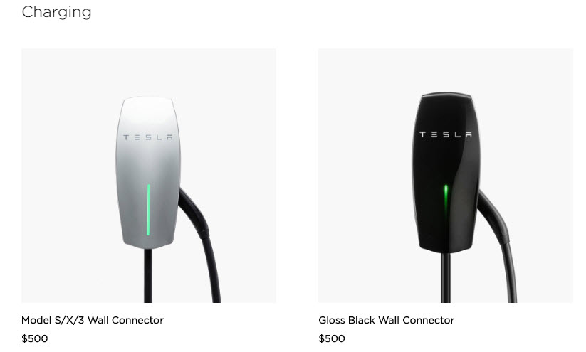 Wall Connector Gloss Black, el nuevo cargador de Tesla