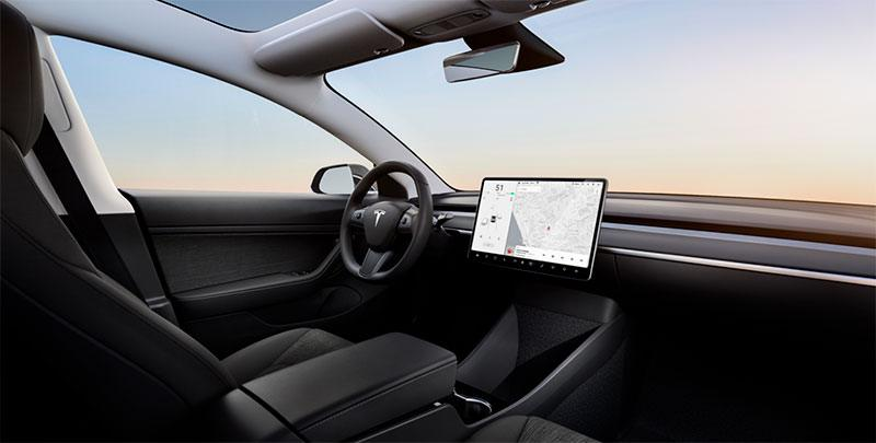Tesla Model 3 interior standard
