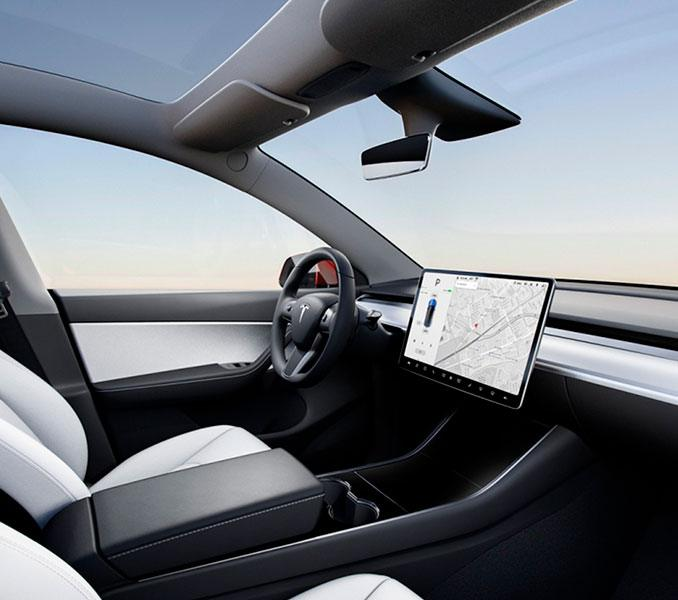 Foto del interior del Tesla Model Y