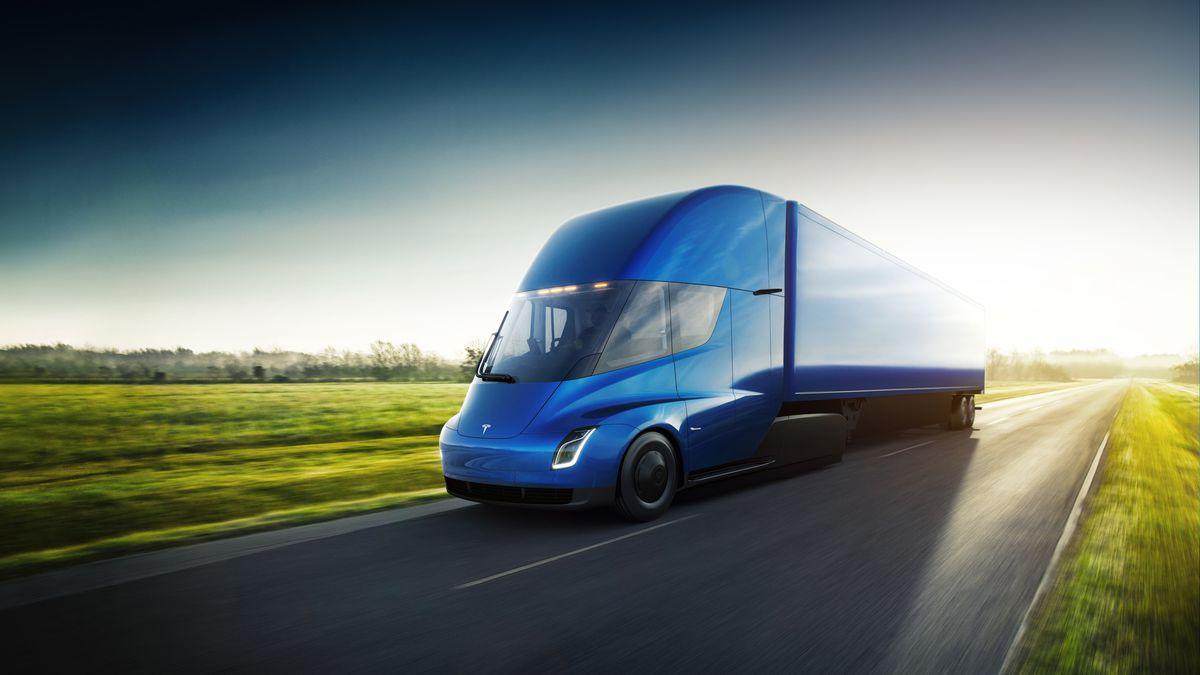 Imagen del Tesla Semi, el camión eléctrico de Tesla