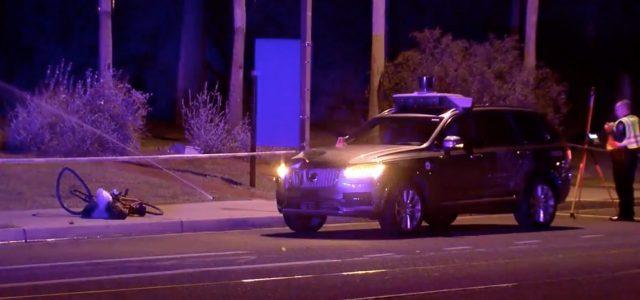 Imagen del atropello de un ciclista por un Volvo de Uber con conducción autónoma