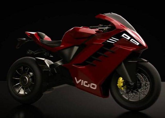 Concepto de la moto eléctrica Vigo