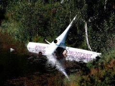 Avión eléctrico accidentado