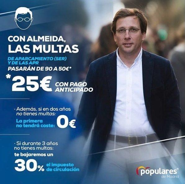cartel-electoral-madrid-central-pp-jose-martinez-almeida