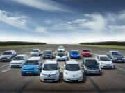 Foto con distintos coches eléctricos