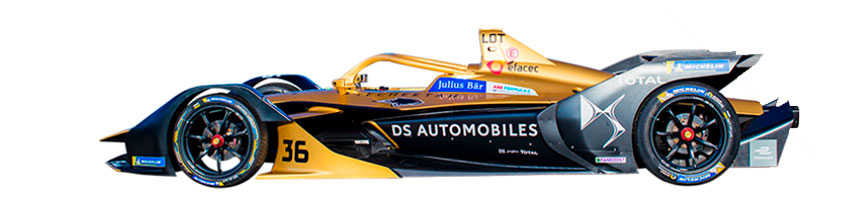 Coche de DS Techeetah Formula E Team