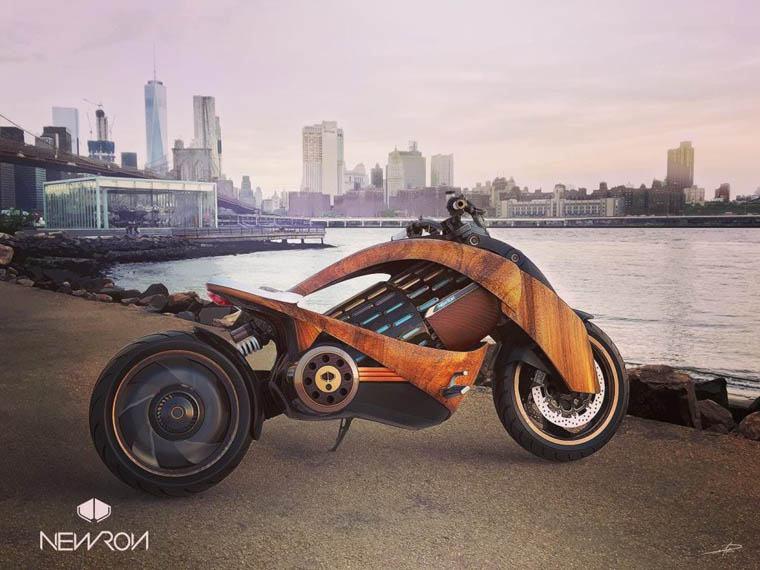 newron-motocicleta-electrica-madera